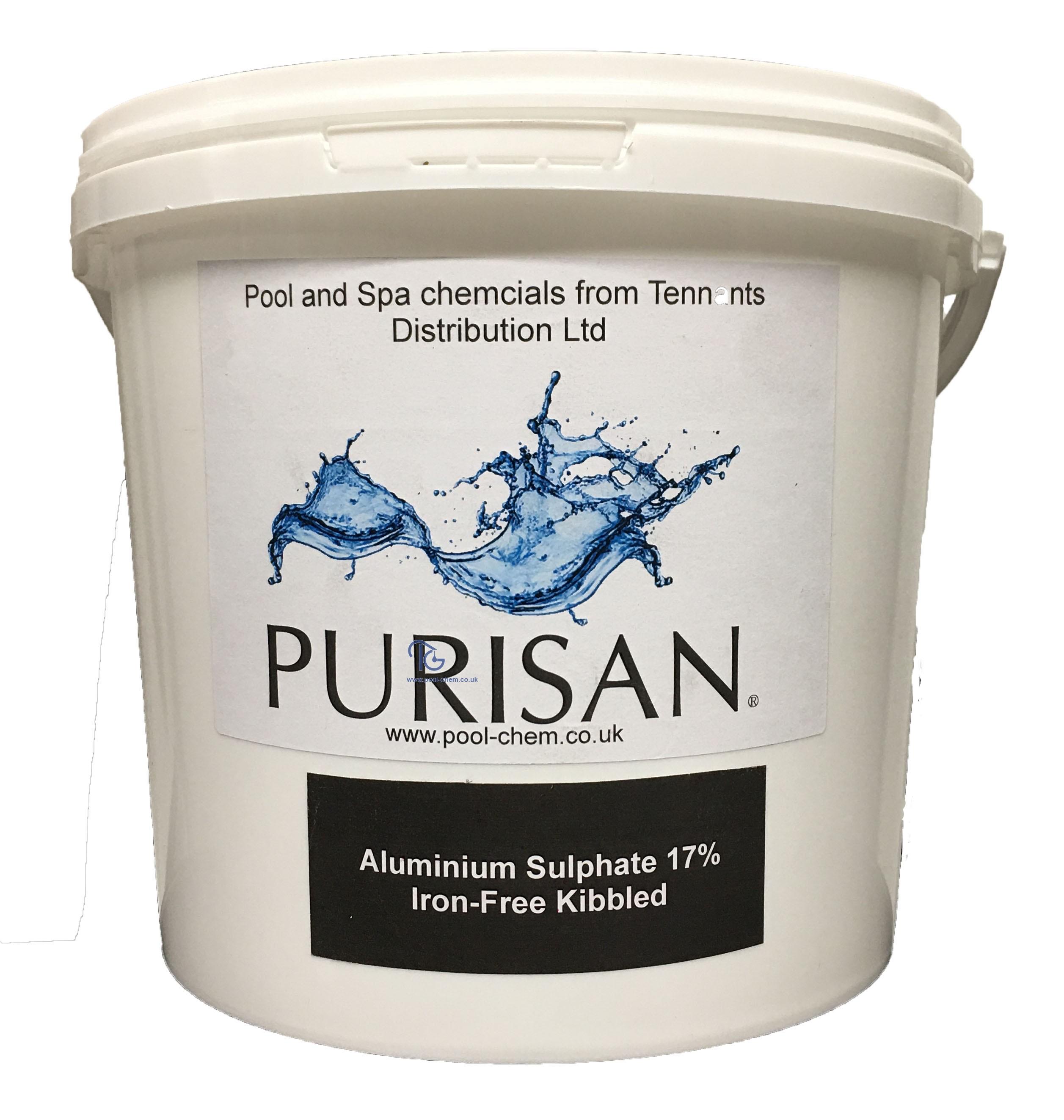 Purisan® Aluminium Sulphate 17% Iron-Free Kibbled (4 x 5 Kg)