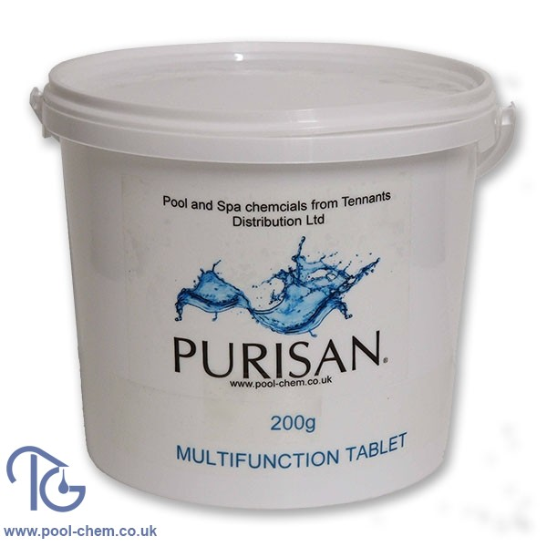 Purisan Multifunction 200g Chlorine Tablet