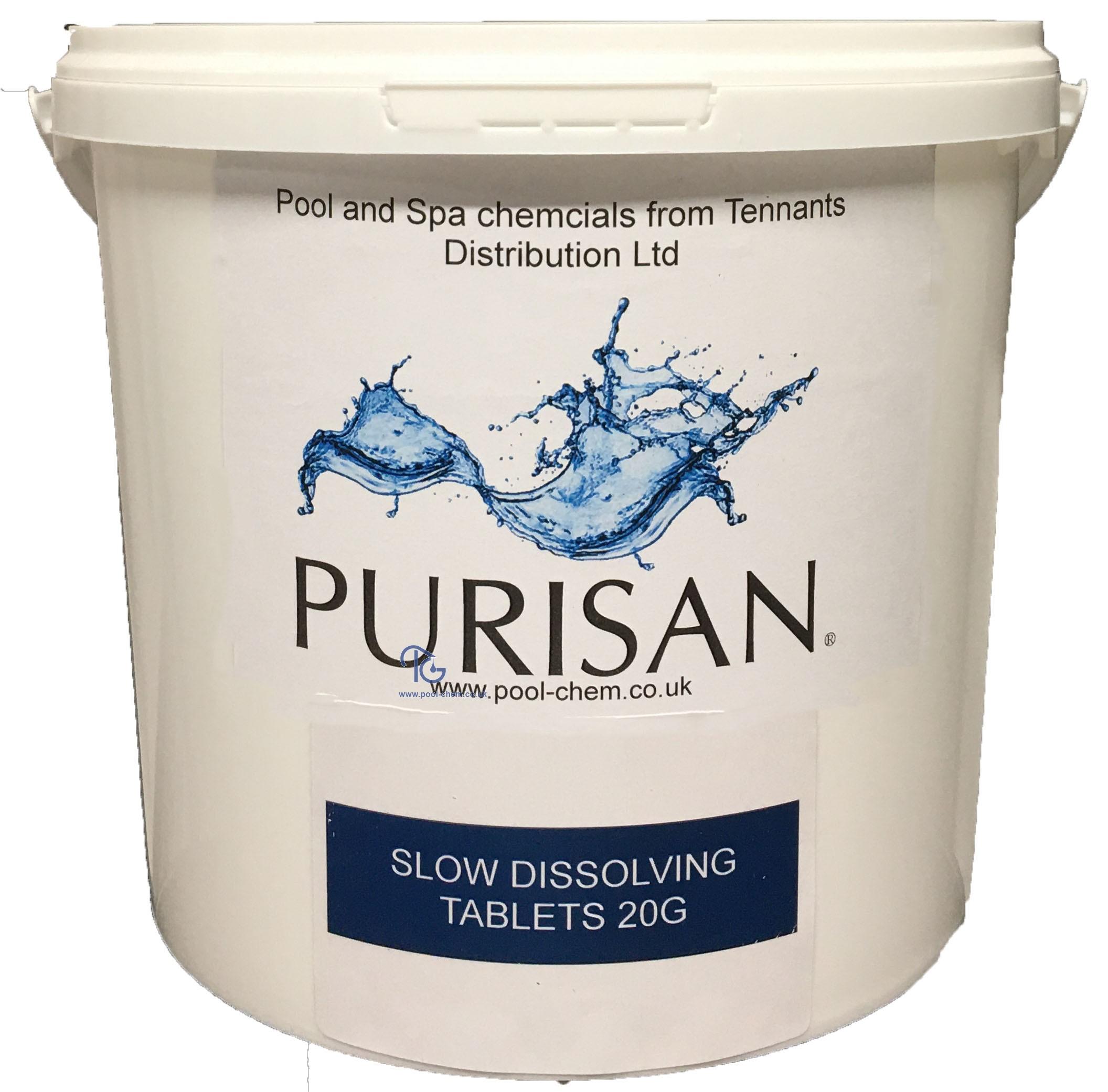 Purisan 20g Mini Slow Dissolving Stabilised Chlorine