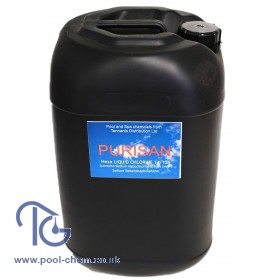 Purisan® HEXA Liquid Chlorine 14/15% (Sodium Hypochlorite - 20ltr Non-Returnable Policans)  - COLLECTION ONLY