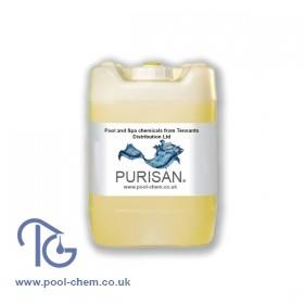 Purisan Liquid Chlorine 14/15% Sodium Hypochlorite - 5 Ltr Polibottle Pack